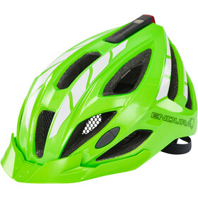 Endura Luminite Kask rowerowy, hi-viz green/reflective